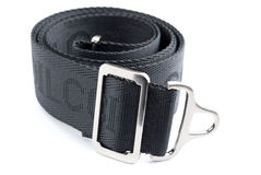 Textile belt. With a metal buckle isolated on white background Stock Images