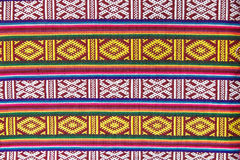Textile of Bhutan. A Bhutanese textile. Textile of Bhutan represent a rich and complex repository of a unique art form. Plain weave textiles are usually woven in stock photo