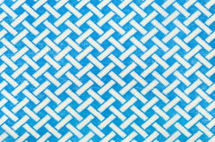 Textile with blue and white pattern Royalty Free Stock Image