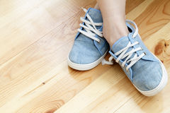 Textile breathable shoes  for sports Stock Photos