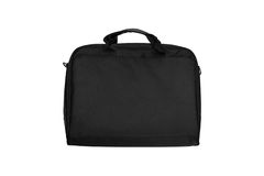 Textile briefcase for laptop Stock Image