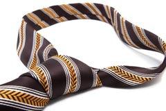 textile brun de cravate Photographie stock libre de droits
