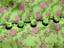 Textile with buttons Stock Photography