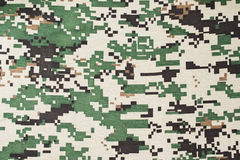 Textile camouflage pattern Royalty Free Stock Images