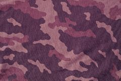 Textile camouflage uniform color background pattern. Royalty Free Stock Image