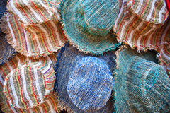 Textile caps Stock Image