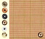Textile checkered classique Image libre de droits