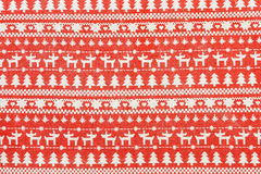 Textile Christmas background with Scandinavian design Stock Photos