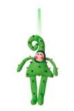 Textile Christmas tree toys Royalty Free Stock Image