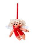 Textile Christmas tree toys Stock Images
