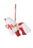 Textile Christmas tree toys Stock Photos