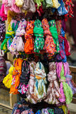 Textile, cloth on market Royalty Free Stock Images