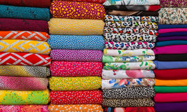 Textile Cloth and tissue of various colours Stock Images