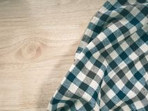 Textile clothing on table, copy space for your design.  royalty free stock photography