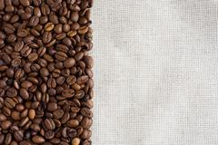 Textile and coffee Royalty Free Stock Photo