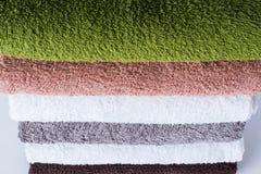 Textile coloré de serviettes de bain de Terry de coton de pile Images stock
