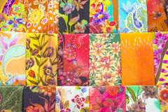 Textile coloré produit en série sur un marché est traditionnel en Malaisie photos libres de droits