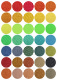Textile Color Chart Stock Photo