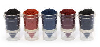 Textile color powder Stock Photos