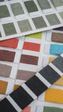 Textile color swatch Royalty Free Stock Images