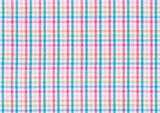 Textile with a colorful checked pattern Royalty Free Stock Photos