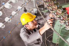 Textile company technician Stock Images