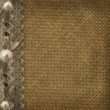Textile cover for an album Royalty Free Stock Photos