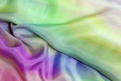 Textile d'arc-en-ciel Photographie stock
