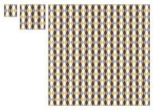 Textile Damask Pattern. Damask Textile Symmetric Pattern (Easily Editable Stock Image