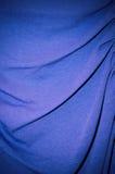 Textile de coton bleu Photographie stock libre de droits