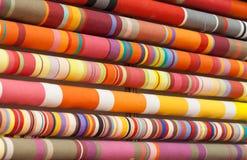 Textile de couleur Photographie stock libre de droits