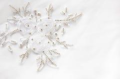 Textile de lacet de mariage Photographie stock