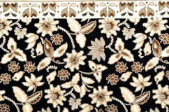 Textile de modèle et de batik Image libre de droits