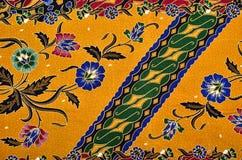 Textile de modèle et de batik Photos libres de droits