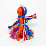 Textile doll. A hand-made colored textile doll Royalty Free Stock Photography