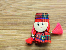 Textile doll toy martisor Stock Images