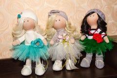 Textile dolls handmade Stock Photo