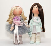 Textile dolls handmade Stock Photos