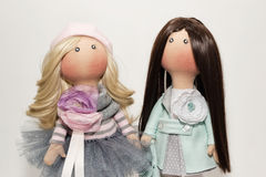 Textile dolls handmade Stock Photo