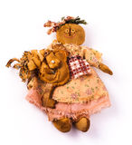 Textile dolls Stock Photography