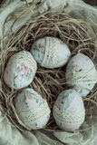 Textile Easter eggs Stock Photography