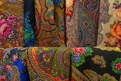 Textile with ethnic patterns Stock Image