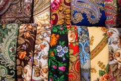 Textile with ethnic patterns Stock Images