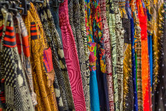 Textile with ethnic patterns Royalty Free Stock Photography