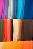 Textile fabric. Multicolored textile fabric in a shop Stock Image