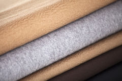 Textile fabric. Fabric materials are posed for ad usage Stock Image