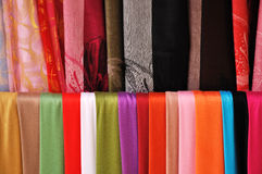 Textile fabric. In multi color Royalty Free Stock Images