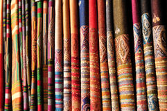 Textile fabric. In multi color Royalty Free Stock Photography