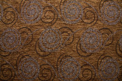 Textile fabric texture Anemon 10 Dark copper brown color Stock Images
