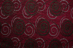Textile fabric texture Anemon 06 dark red color Stock Images
